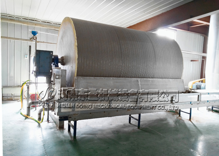 vacuum filter in sweet potato starch machine