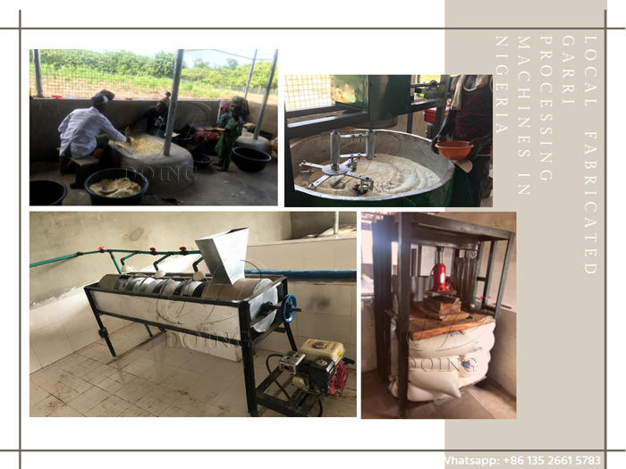 Locally fabricated garri processing machines for cassava making in Nigeria VS. Modern garri processing machine