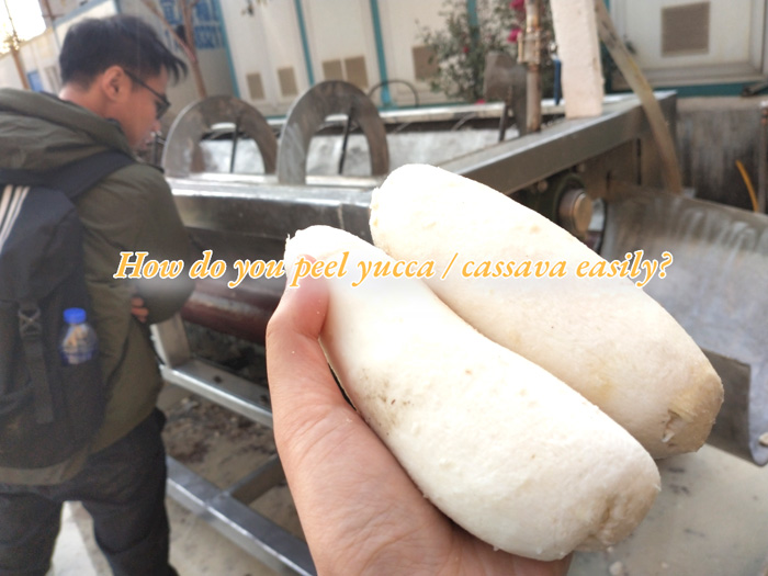 How do you peel yucca / cassava easily?