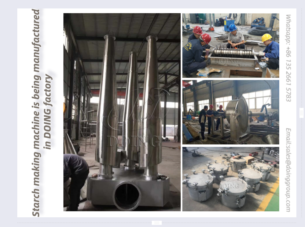 Starch making machine is being manufactured in DOING factory