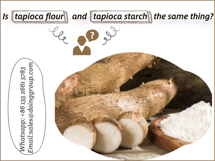 Is tapioca flour and tapioca starch the same thing?