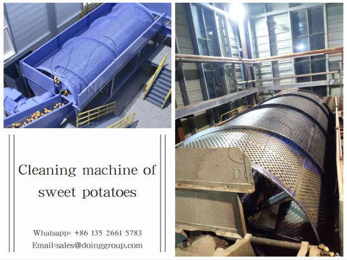 What machines can be used for sweet potato starch processing?