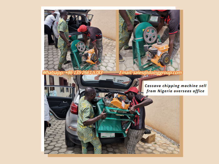 Small cassava chipping machine in Nigerian overseas warehouse sells well