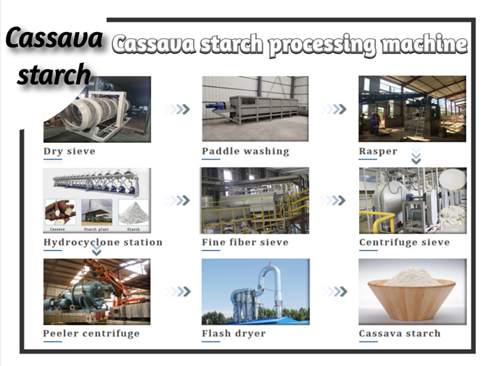 manufacturing plant of starch